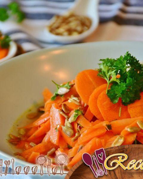 Zanahorias heladas estilo J. Oliver