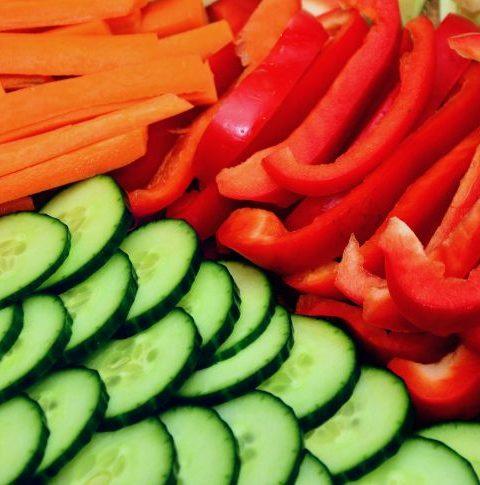 Cocinar las verduras según sus colores