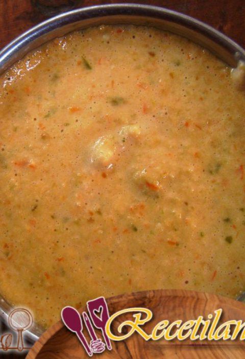 Crema de lentejas con tomate y comino