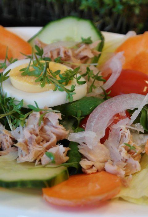Ensalada de huevo ahumado