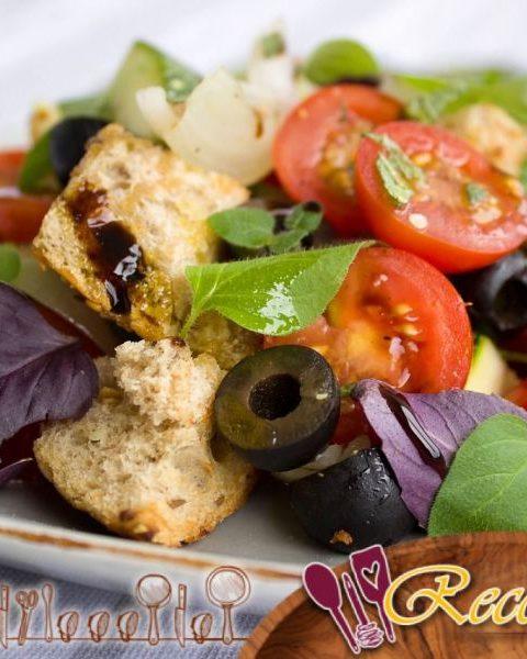 Ensalada de tomate y pepino, aderezo Melfor