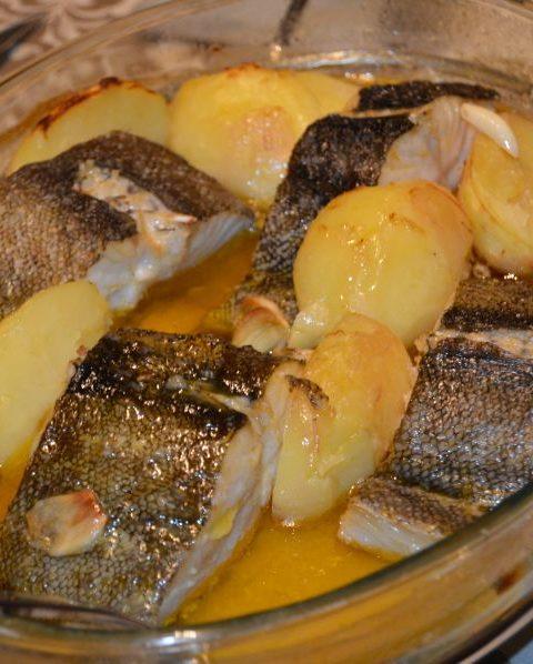 Filetes de bacalao con cítricos