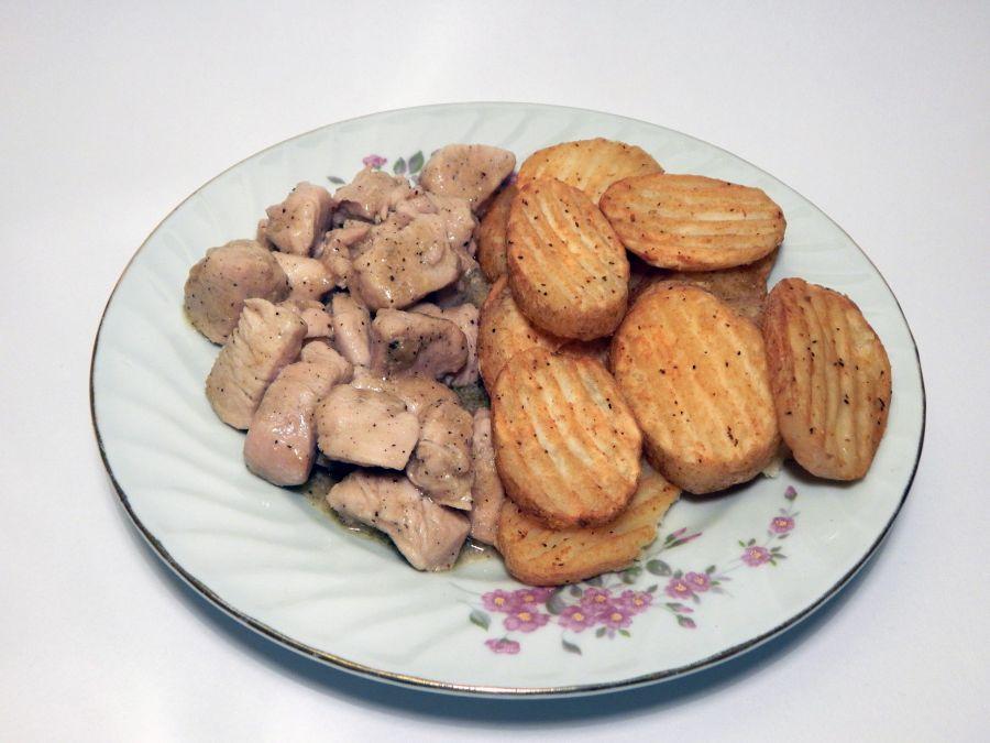 Galletas con chispas de chocolate y Pechuga