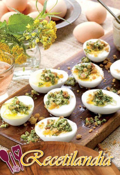 Huevos ahumados endiablados