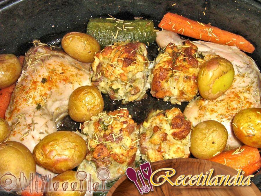 Panes rellenos de carne (Patatas al horno)