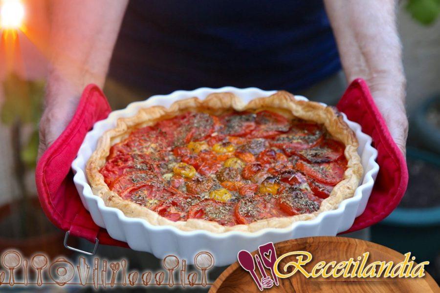 Pastel de tomate y mascarpone