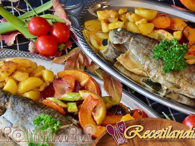 Papillote de pescado con verduras pequeñas