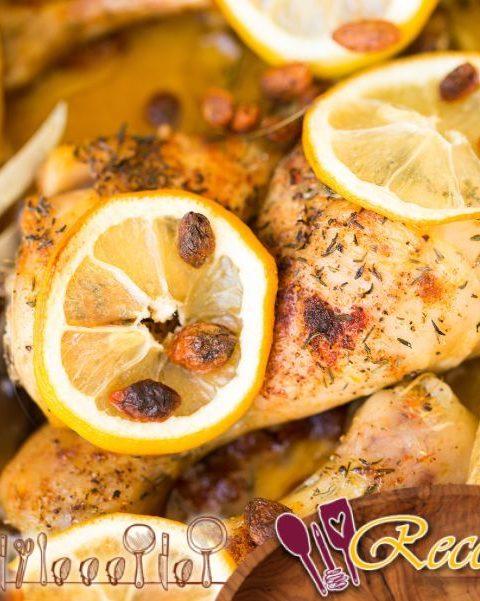 Pollo con miel y limón