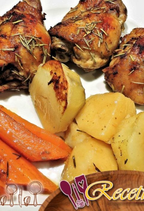 Pollo con zanahorias viejas