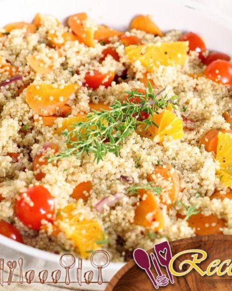 Quinoa con calabaza y queso feta