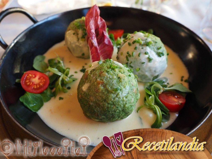 Raviolis de verduras con cangrejo