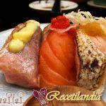 Filetes de atún a la parrilla de albahaca con ensalada de rúcula