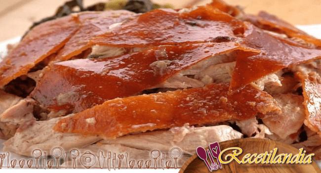 Salmón rojo a base de cedro
