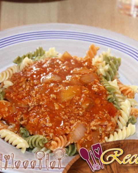 Salsa boloñesa vegetariana