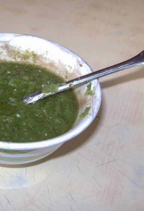 Salsa de Pargo Ahumado con Chips de Vegetales Ahumados