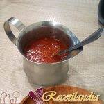 Costillitas ahumadas con salsa espumosa de pera a la parrilla