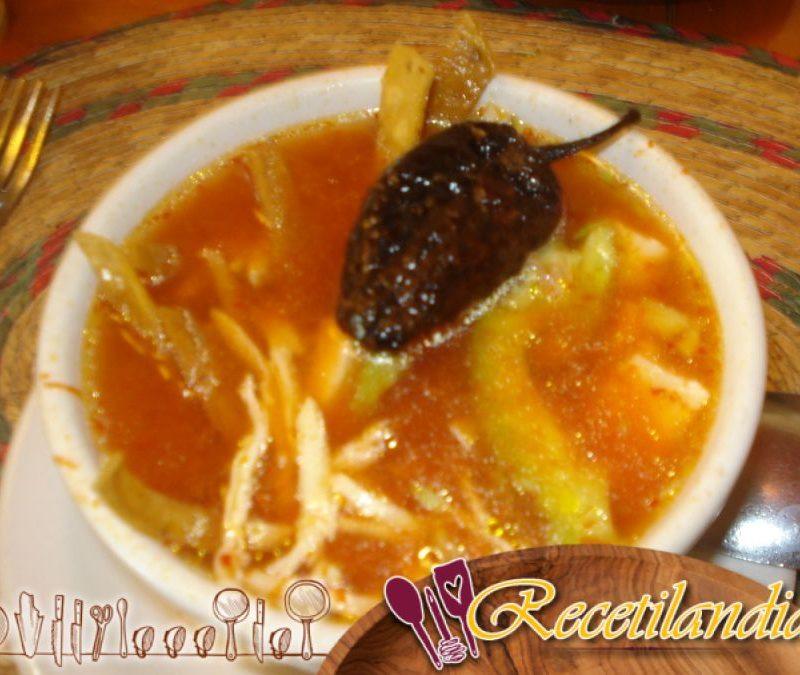 Sopa mexicana picante