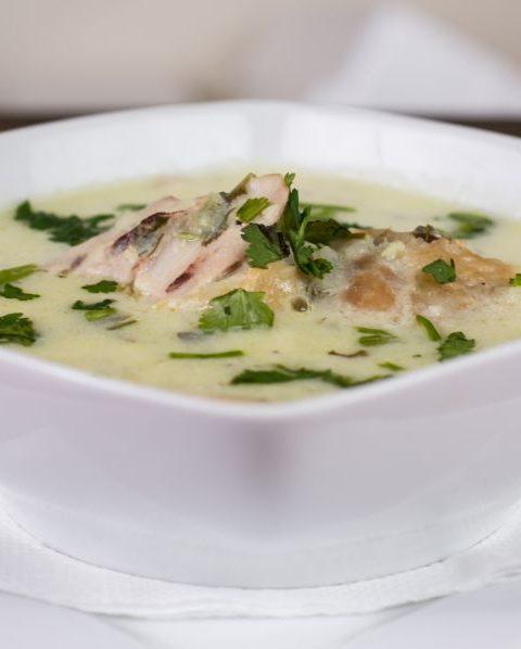 Sopa rústica de puerro de patata