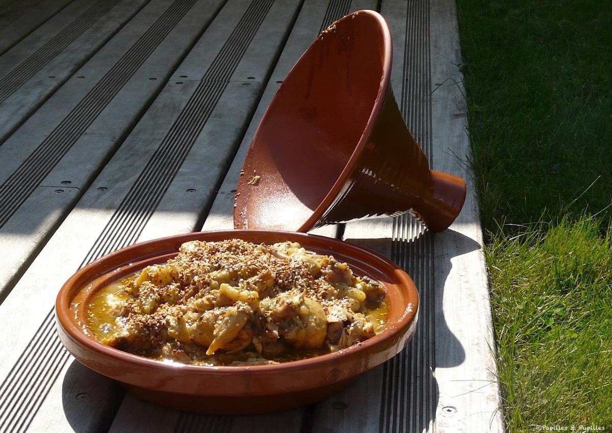 Tagine de pollo con peras, miel y canela