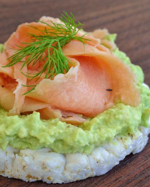 Tarta de queso con salmón ahumado