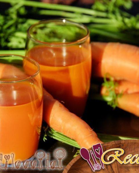 Zanahorias cocidas en zumo de naranja